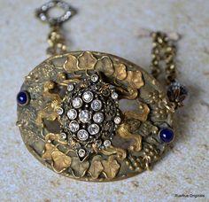Vintage Victorian Sash Pin Bracelet Assemblage