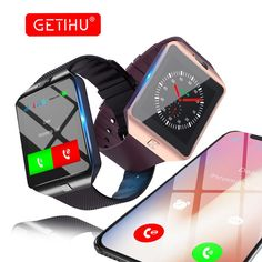 GETIHU DZ09 Unisex Smart Bluetooth Watch - Fitness Tracker, Camera, Sleep Monitor Android & iOS Smart Phone Compatible