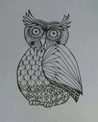 Bildergebnis für Zentangle Owl