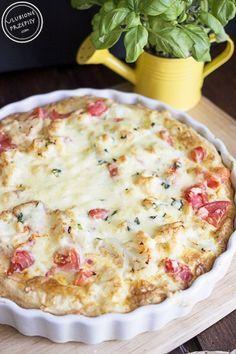 Tarta z kalafiorem i pomidorami na spodzie z ciasta francuskiego - Ulubione Przepisy