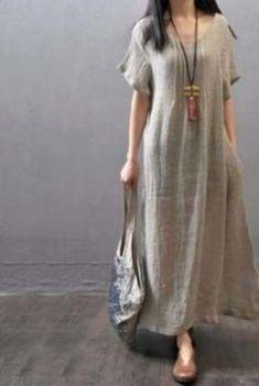 New sport style women hijab Ideas – Linen Dresses For Women Baggy Dresses, Linen Dresses, Cotton Dresses, Casual Dresses, Short Sleeve Dresses, Hijab Fashion, Boho Fashion, Fashion Dresses, Fashion Vintage