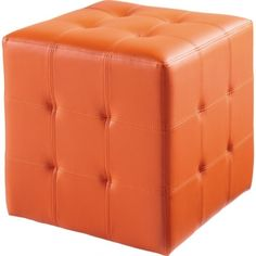 Share & Save $5 Off Any Order Over $99. (excludes a few products) Dario Ottoman in Orange Leatherette