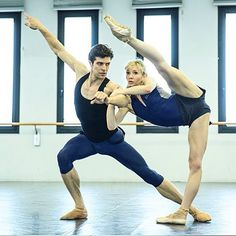 Melissa Hamilton (The Royal Ballet) and Roberto Bolle (Teatro alla Scala) rehearsals for 2017 Bolle Tour, Bolle and Friends Summer Tour, Teatro alla Scala, Milan, Italy  Program for July: Firenze: 7-8 Rome: 11-12-13 Spoleto: 15 Verona: 17 Santa Maria di Pula (Sardegna): 21 -  Photographer Andrej Uspenski - Source and more info at: Roberto Bolle on Instagram: https://www.instagram.com/robertobolle/
