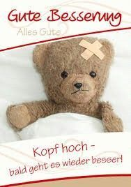 Das wird schon - - Famous Last Words Birthday Greetings, Birthday Cards, Get Well Wishes, Health And Wellness Quotes, Get Well Soon, Get Well Cards, Woodland Party, Quotes For Kids, Smiley
