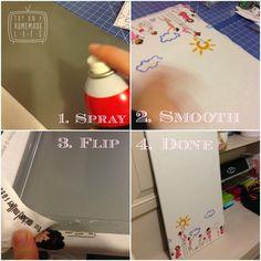 Four Easy steps to transform the Spontan into a cute custom magnet board.