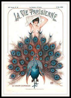 La Vie Parisienne Le Paon Censeur May 2, 1925 Georges Leonnec