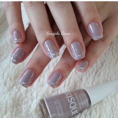 Nude nails designs are classy, which makes them appropriate for any occasion. Elegant Nail Designs, Elegant Nails, Nail Art Designs, Nude Nails, Manicure And Pedicure, Acrylic Nails, Nail Designer, Fabulous Nails, Trendy Nails