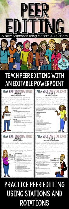 Use stations and rotations for effective peer editing. High school English. Middle school English. Writing. Teaching writing. Secondary ELA.