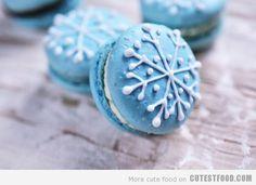 snowflake macaroons