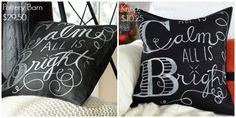 great way to paint your own designs onto fabric - specifically throw pillow covers.