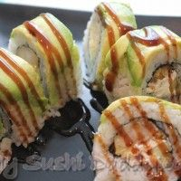 How to Make a Palm Beach Shrimp Tempura Roll with Avocado on Top...Wow, I think I could actually make this!