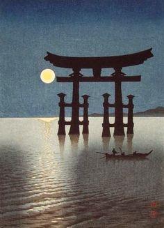 ~ Shoda Koho ~ Japanese artist, 1871 - 1946: Shrine Gate at Miyajima