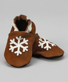 Take a look at this Brown Snowflake Booties by Candy Cane Lane: Boys' Apparel on #zulily today!