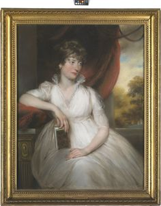 1800 ca. Mrs William Pierrepont, pastel by John Russell - National Maritime Museum. collections.rmg.co.uk