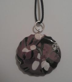 Pendant in fimo, varnished with resin.