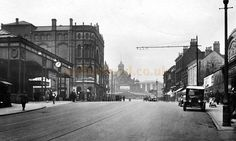 The Station, Grand Theatre, and Her Majesty's Theatre, Walsall in 1930 - Courtesy John Griffiths Walsall, West Midlands, My Town, Local History, The Good Old Days, Birmingham, Ariel, Theatre, Roots