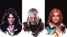 Download Witcher 3 Wild Hunt Yennefer Geralt Triss Merigold Art 2560x1440