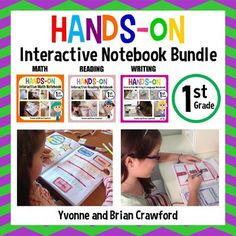 Interactive Notebook First Grade Common Core Bundle: Use code cyber2016 for 28% - 11/29 only!