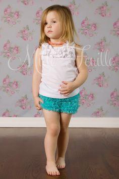 little girls ruffle shorties
