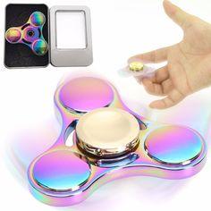 Toys & Hobbies Bluetooth Speaker Led Toy Tri Fidget Edc Hand Spinner Anti Stress Fluorescent For Adult Kids Funny Gentle 2017 Fidget Spinner