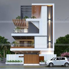 Design Discover Top Future House Designs To see more visit Best Modern House Design, Modern Exterior House Designs, Latest House Designs, Simple House Design, Classic House Design, Modern Design, House Outer Design, House Outside Design, House Front Design