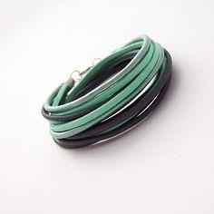 Podwójna bransoletka mix kolorowy - NaLeMi-jewellery - Bransoletki i opaski na rękę
