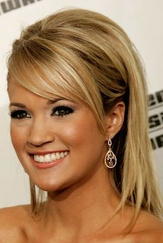 Carrie Underwood Teased hair