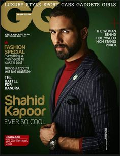 Shahid Kapoor on The Cover of GQ Magazine - September 2014. | Bollywood, Actresses, Magazines, Movies, Pictures Gallery