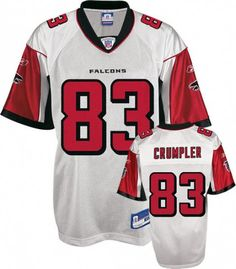 Alge Crumpler Jersey, #83 Atlanta Falcons Authentic NFL Jersey in White