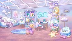 Anime Backgrounds Wallpapers, Anime Scenery Wallpaper, Aesthetic Pastel Wallpaper, Cute Wallpapers, Kawaii Room, Kawaii Art, Champagne Box, Casa Anime, Bedroom Drawing
