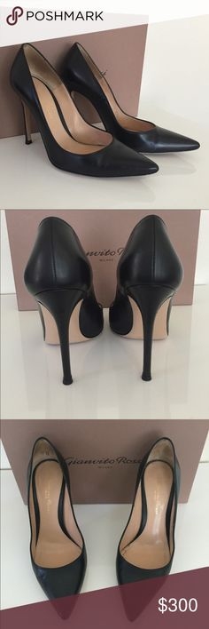 "Luxury GV high heels Gorgeous Gianvito Rossi black 4"" high heels. Great condition, a must have staple for every closet. My favorite brand bc they are so comfortable. With original box. gianvito rossi Shoes Heels"