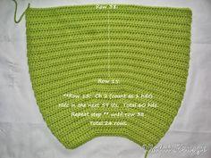 Walai Krusye: 1# Tutorial: Fat Bottom Bag Crochet Mask, Crochet Tote, Crochet Handbags, Crochet Purses, Crochet Crafts, Crotchet Bags, Clutch, Knitted Hats, Projects To Try