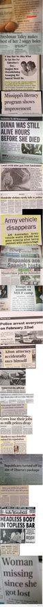 Hilarious newspaper headlines