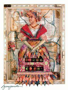 Lynne Perrella mixed media art