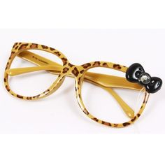 Hello Kitty Bow Style Nerd Eye Glasses Frame Leopard with Bling Rhinestone $25.45