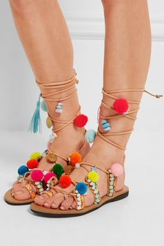 Mabu by Maria BK | Embellished leather sandals | NET-A-PORTER.COM