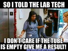 Oh the everyday reality that a Lab Professionals have to deal with is UNREAL ya'll :P Lab Humor, Work Humor, Laboratory Humor, Medical Laboratory Scientist, Medical Humor, Nurse Humor, Medizinisches Labor, Phlebotomy Humor, Medical Lab Technician