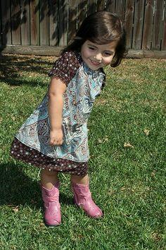 How To Make A Peasant Dress.  She is sooo cute.  Reminds me of my grandbabes