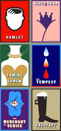 Another cool poster of Shakespeare works.