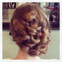wedding hair, updos, side updo