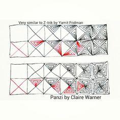 zentangle pattern panzi...variation of z-trik pattern here:  http://tanglepatterns.com/2013/03/how-to-draw-z-trik.html