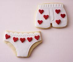 Tutorial: Valentine's Day Underwear Cookies | CakeJournal.com