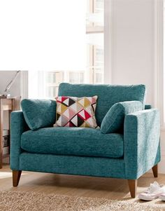 Buy Chelsea Love Seat in Various Colours from our Living Room Furniture Collections range today from George at ASDA. Living Room Chairs, Living Room Furniture, Home Furniture, Living Room Decor, Teal Grey Living Room, Furniture Stores, Teal Sofa, Teal Chair, Teal Accent Chair