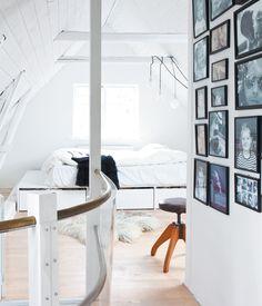 Attic bedroom in Copenhagen #dreamhouseoftheday