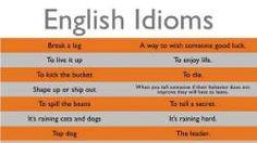 lista idiomów angielskich z przykładami