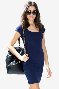 You got the hips, we got the dress! Cop this body-hugging dress featuring a scoop neck, short sleeves, and bodycon fit. Finished edges. $9.50