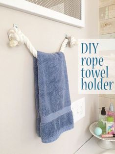 TGIF! Im here today to share how you can make a towel holder with rope aDIY project Idid as part of my kids bathroom redesign. I hope to share the complete room redesign post soon but I