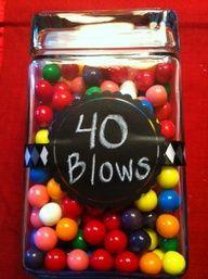 "DIY 40th Birthday Gift Under Thirteen Dollars\  INSTEAD- POP ROCKS '_____ ROCKS"""