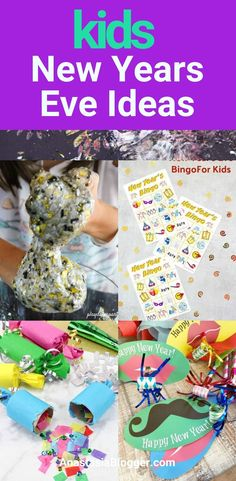 Things to Do on New Year's Eve with Kids - Best Family Friendly New Year's Eve Ideas Kids New Years Eve, New Years Eve Food, New Years Eve Party, At Home Science Experiments, Science Projects For Kids, Crafts To Do, Crafts For Kids, Diy Crafts, Bingo Games For Kids