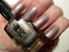 A England Princess Tears Swatch - pale lilac holographic nail polish